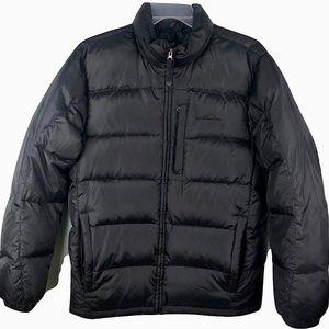 New! Eddie Bauer Goose Down Puffer Jacket Black M